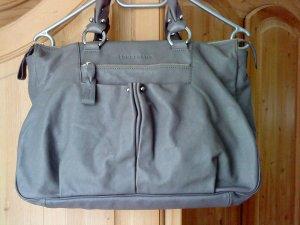 Longchamp * Leder * Handtasche * Ledertasche * grau * TOP