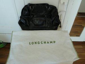 Longchamp Legende Verni groß schwarz lack kate moss Top Zustand