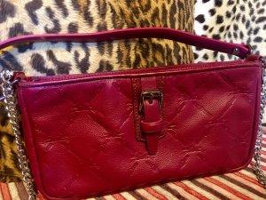Longchamp Sac de soirée rouge foncé cuir