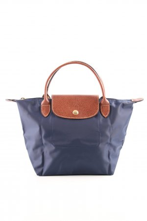 Longchamp Minitasche blau-braun Casual-Look