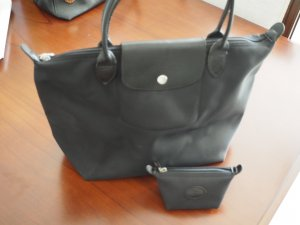 Longchamp Plaige M + Coin noir