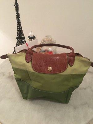 Longchamp pliage kleine Tasche in drei grün Tönen