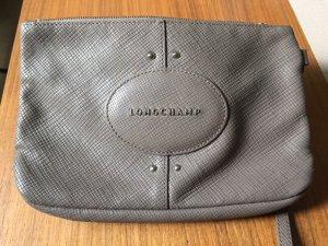 Longchamp Pochette gris brun-gris cuir