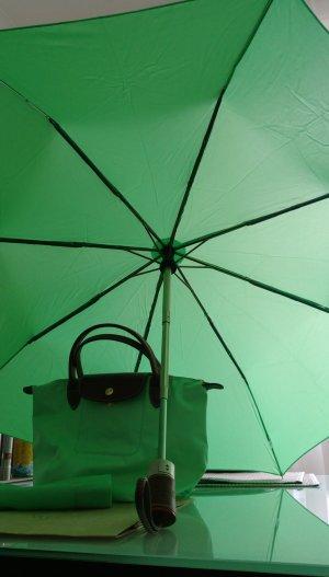 Longchamp Regenschirm Tuch Tasche Neu Farbe Mint Sommer Schnäpchen Set