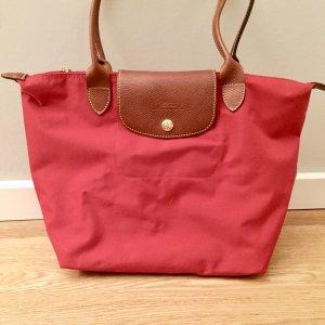 LONGCHAMP - Roter Le Pliage Shopper / Schultertasche (Größe S)