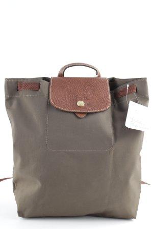 Longchamp Mochila escolar marrón grisáceo-marrón look casual