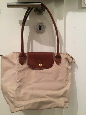 Longchamp Schultertasche beige braun Casual-Look