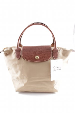 Longchamp Shoulder Bag beige-cognac-coloured classic style
