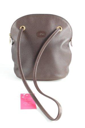 Longchamp Schultertasche dunkelbraun Elegant