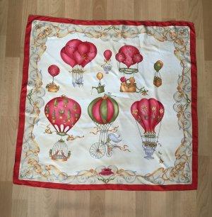 Longchamp Sciarpa di seta multicolore Seta