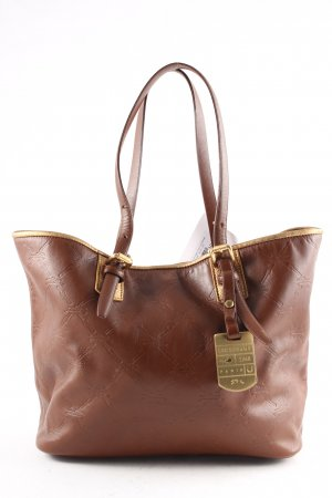 Longchamp Shopper braun-goldfarben Monogram-Muster Casual-Look