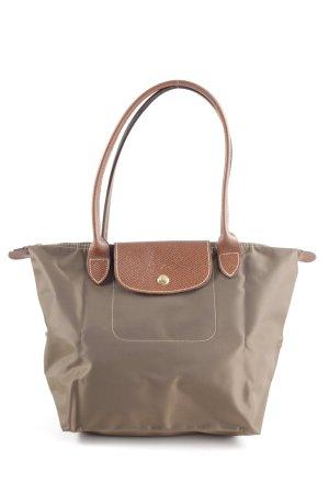 Longchamp Shopper bruin-wolwit zakelijke stijl