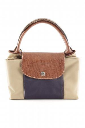 Longchamp Shopper camel-dark blue casual look