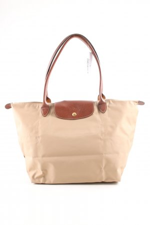 Longchamp Shopper wollweiß-braun Business-Look