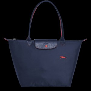 Longchamp Shopping Bag L Le Pilage Navy 2018 Limited Edition