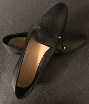 Longchamp Slippers aus Leder wie Neu schwarz Gr. 38