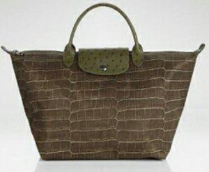 Longchamp Sonderedition Croco Gr. M