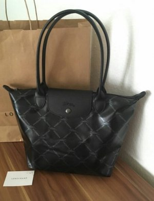 Longchamp Sonderedition LM Metallic schwarz Gr. M