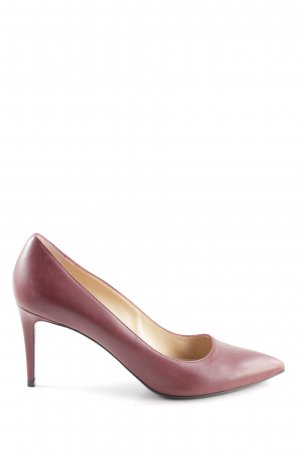 Longchamp Spitz-Pumps rot Business-Look