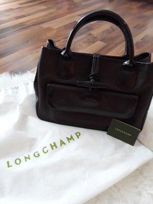 Longchamp Borsa con manico marrone scuro
