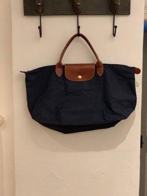 Longchamp Bolso barrel azul oscuro