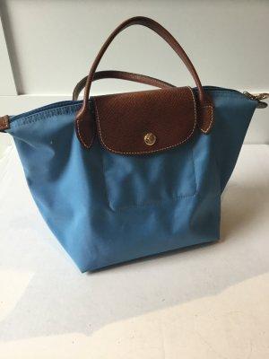 Longchamp Sac Baril bleu azur