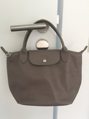Longchamp Carry Bag grey brown-grey leather