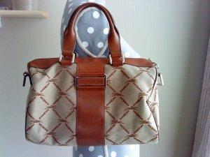 Longchamp Tasche * Handtasche * Leder mit Stoff