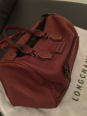 Longchamp Bowling Bag cognac-coloured leather