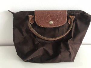 Longchamp Borsa con manico marrone-marrone scuro