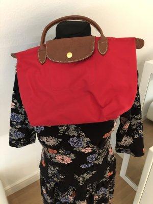 Longchamp Sac Baril rouge-brun foncé