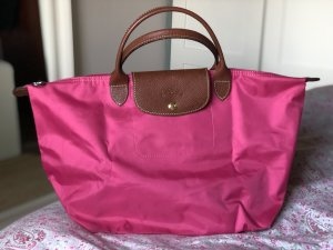 Longchamp Tasche Le Pliage in pink Medium kurzer Henkel Original