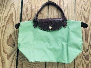 Longchamp Tasche, mint grün, s, faltbar, Leder, klein, hellgrün