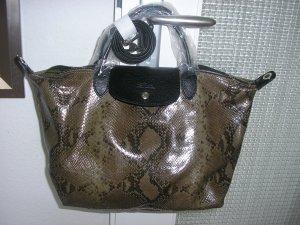 Longchamp Tasche, Neu mit Etikett, Leder, schlangen.