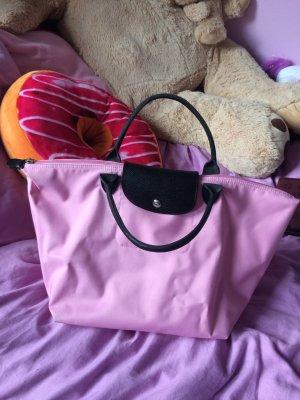 Longchamp Tasche rosa schwarz le pliage
