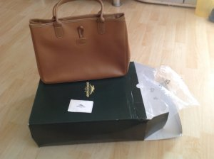 Longchamp Carry Bag light brown-gold-colored leather