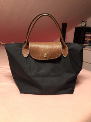 Longchamp Bolso barrel negro-color bronce