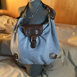 Longchamp Tasche, Shopper, Sattlebag, Leder Textil Top