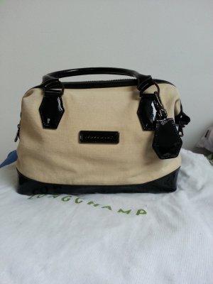 Longchamp Tasche wie neu mit Staubbeutel beige schwarz Lack