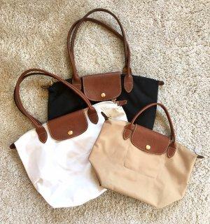 Longchamp Taschen, weiß, schwarz, beige