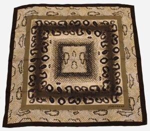 LONGCHAMP TUCH braun Muster Baumwolle Seide neu 2