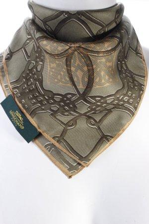 Longchamp Tuch dunkelgrün-beige gemustert