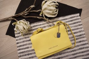 Longchamp Gekruiste tas geel-neongeel Leer