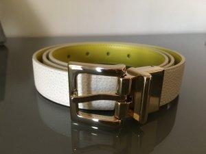 Longchamp Wendegürtel weiß und gelb