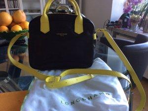 Longchamptasche ohne Fehler in schwarz/gelb