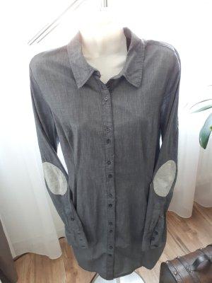 Fresh made Long Sleeve Shirt slate-gray cotton