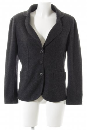 longhin Wool Jacket dark grey flecked casual look