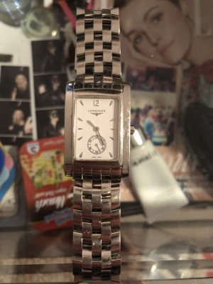 Longines Watch With Metal Strap silver-colored-white