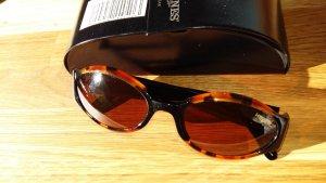 Longines Ovale zonnebril bruin-cognac kunststof