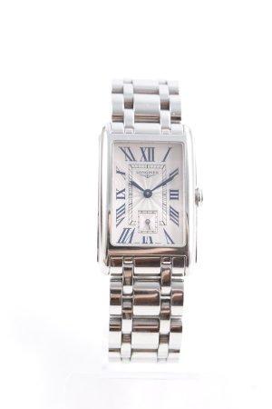 Longines Reloj con pulsera metálica color plata estilo sencillo